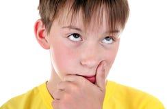 Pensive Kid closeup Royalty Free Stock Photos
