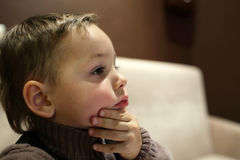 Pensive kid Royalty Free Stock Photo
