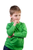 Pensive little boy Royalty Free Stock Photo