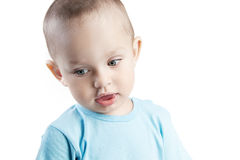 Pensive little boy Royalty Free Stock Images