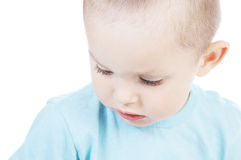 Pensive little boy Stock Image