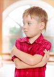 Pensive little boy Stock Photos
