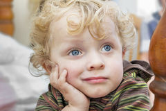 Pensive little boy Royalty Free Stock Photography