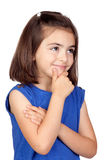 Pensive little girl Royalty Free Stock Photography