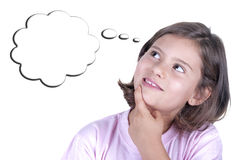 Pensive little girl Royalty Free Stock Photo