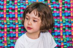 Pensive little girl Royalty Free Stock Photos