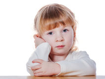 Pensive little girl Stock Photography