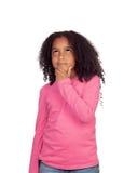 Pensive little girl Royalty Free Stock Photos