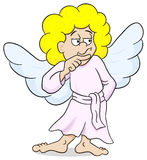 Pensive looking cartoon angel Stock Photography