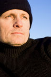 Pensive looking outdoor man Stock Photography