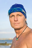 Pensive looking triathlete Royalty Free Stock Images