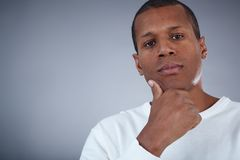 Pensive male Royalty Free Stock Photos
