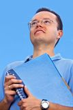 Pensive male student Royalty Free Stock Image