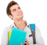 Pensive male student Stock Photography