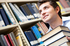 Pensive male student Royalty Free Stock Photo