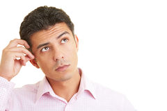 Pensive man Stock Photos