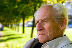 Pensive Man. Closeup portrait of the old pensive man Royalty Free Stock Photo