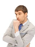 Pensive man Royalty Free Stock Photography
