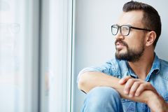 Pensive man Stock Image