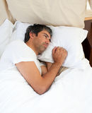 Pensive man after having an argument Royalty Free Stock Image