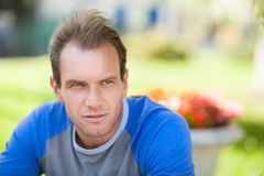 Pensive man portrait Royalty Free Stock Images