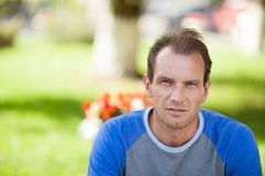 Pensive man portrait Royalty Free Stock Photos