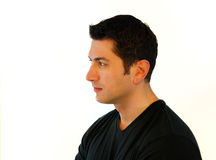 Pensive Man Profile Stock Images