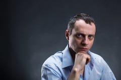 Pensive man thinking Stock Photo