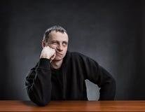 Pensive man thinking Stock Photos