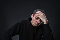 Pensive man thinking Stock Image