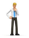 Pensive manager vector illustration