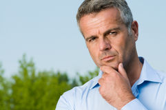 Pensive mature businessman Royalty Free Stock Photography