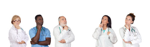 Pensive medical team Royalty Free Stock Photo