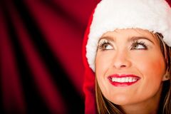 Pensive Mrs. Claus Stock Image