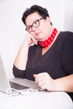 Pensive in the office Stock Photography