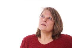 Pensive older woman Royalty Free Stock Photos