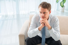 Pensive patient Stock Photos