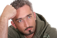 Pensive Portrait Royalty Free Stock Photography