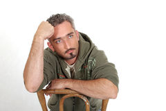 Pensive Portrait 2 Royalty Free Stock Image