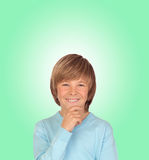 Pensive preteen boy Royalty Free Stock Photos