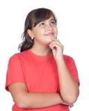 Pensive preteen girl Stock Images