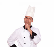 Pensive professional chef looking at you Stock Photography
