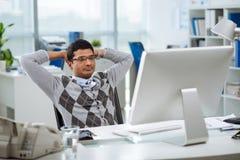 Pensive programmer Stock Photo