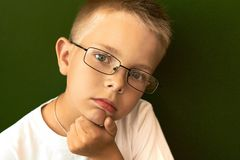 Pensive pupil Royalty Free Stock Photo
