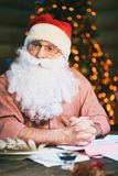 Pensive Santa Claus Royalty Free Stock Photo