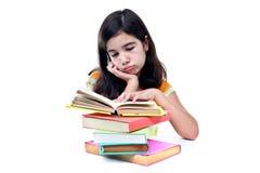 Pensive schoolgirl Stock Images