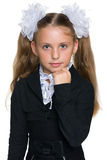 Pensive schoolgirl Royalty Free Stock Photography