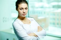 Pensive scientist Royalty Free Stock Photography