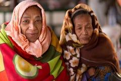 Pensive senior asian woman Stock Images