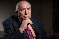 Pensive Senior Businessman Looking Into Distance Stock Photography